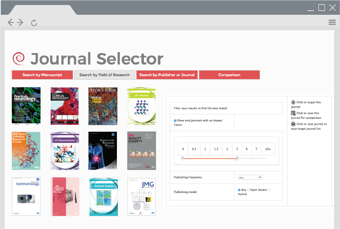 Journal selector integration